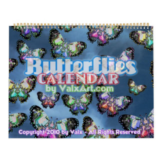 Large Butterfly Flutterby in Valxart calendar