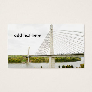 large cable stayed bridge business card