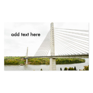 large cable stayed bridge Double-Sided standard business cards (Pack of 100)