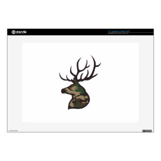 """LARGE CAMO BUCK DECALS FOR 15"""" LAPTOPS"""