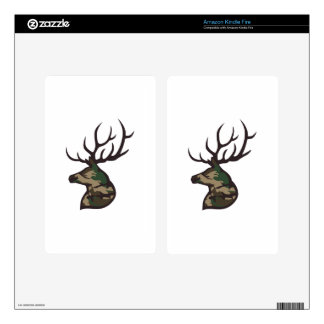 LARGE CAMO BUCK KINDLE FIRE DECAL