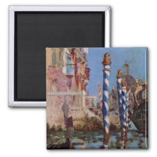 Large Canal in Venice - Edouard Manet 2 Inch Square Magnet