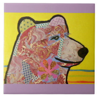 Large Ceramic Photo Tile (6 Inch) with Big Bear