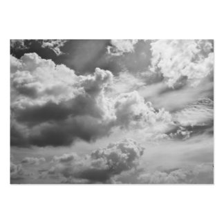 Large Changing Grey Clouds Business Card Template