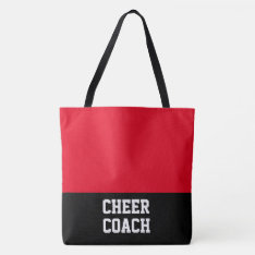 Large Cheer Coach Tote Bag at Zazzle