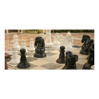 Large Chess Game Rack Card