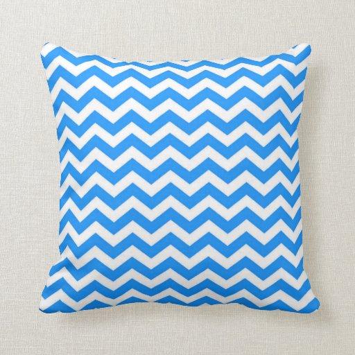 Large Blue Throw Pillows : Large Chevron Stripes (Sky Blue) Throw Pillow Zazzle
