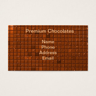Large Chocolate Bar Business Card