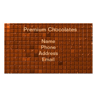Large Chocolate Bar Double-Sided Standard Business Cards (Pack Of 100)
