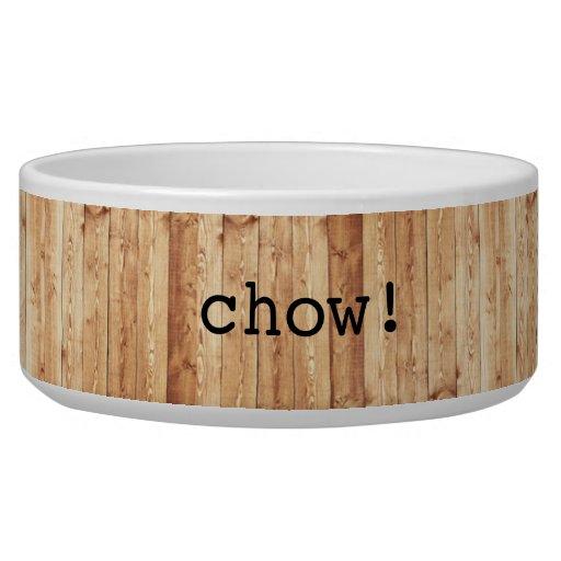 Large Chow Ceramic Dog Bowl Wood Zazzle