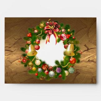 Large Christmas Wreath Envelope