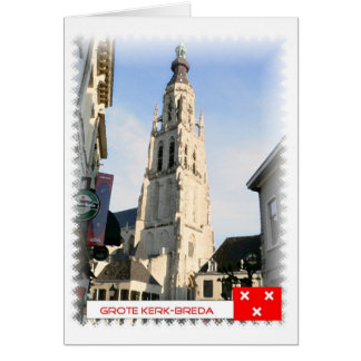 Large church, Breda, the Netherlands Card