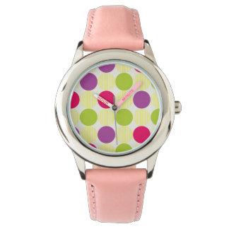 Large Circles Polka Dots Watch