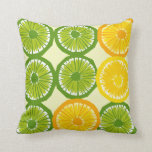 Large Citrus Slices Throw Pillow