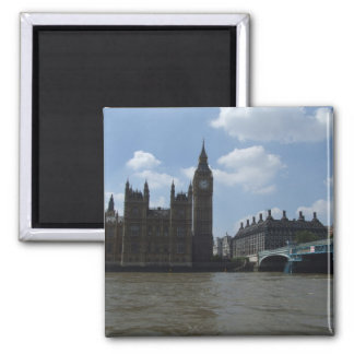 Large Clock Of Oxford University Of London In Lond 2 Inch Square Magnet