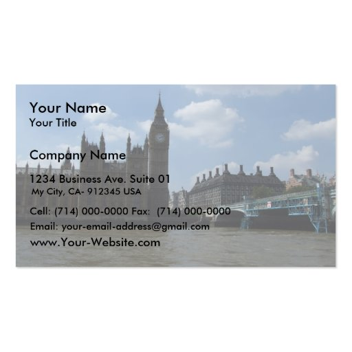 Large Clock Of Oxford University Of London In Lond Business Card Templates
