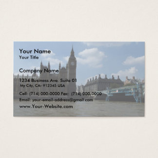 Large Clock Of Oxford University Of London In Lond Business Card