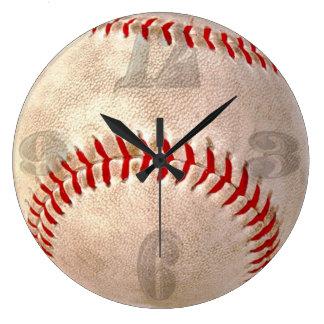 Large Close Up Baseball Gameball Clock