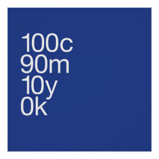 Large CMYK Blue Poster