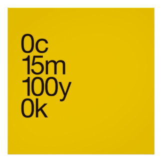 Large CMYK Yellow Poster