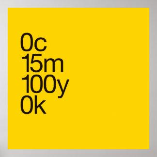 Large CMYK Yellow Poster