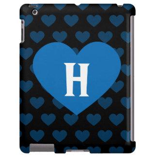 Large Cobalt Blue Heart & Black Background
