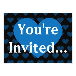 Large Cobalt Blue Heart & Black Background Card