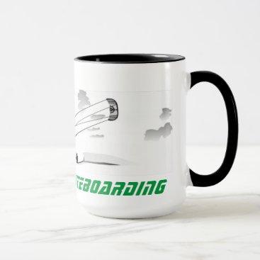 Coffee Themed Large Coffee Mug - Kitesurfing