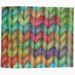 Large Colorful Binder For the Knitter in Your Life Vinyl Binders