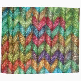 Large Colorful Binder For the Knitter in Your Life
