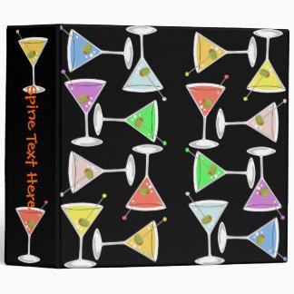 Large Colorful Martinis Binder