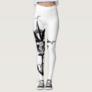 Large Compass Rose with Anchor Leggings