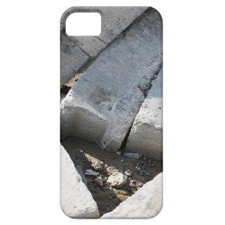 Large concrete building blocks closeup iPhone SE/5/5s case