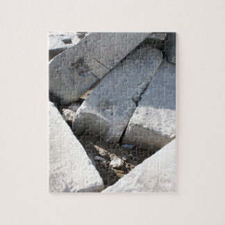 Large concrete building blocks closeup jigsaw puzzle