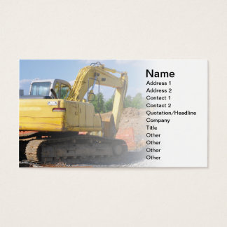 large construction equipment business card