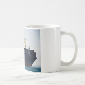 Large Container Ship At Anchor Coffee Mug