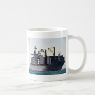 Large Container Ship At Anchor Coffee Mug