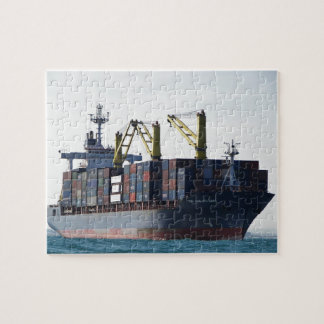 Large Container Ship At Anchor Jigsaw Puzzle