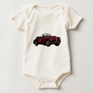 Large Convertible Classic Car Baby Bodysuit
