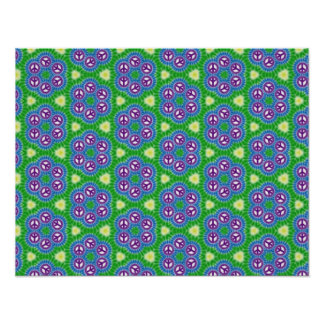Large Craft Paper Colorful Peace Pattern Poster