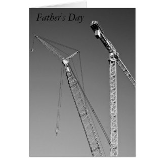 Large Cranes Father's Day Card
