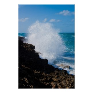 Large Crashing Wave Poster