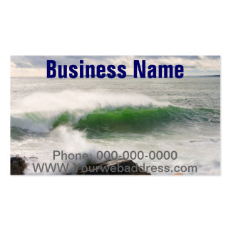 Large Crashing Waves Seascape Acadia National Park Double-Sided Standard Business Cards (Pack Of 100)