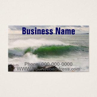 Large Crashing Waves Seascape Acadia National Park Business Card