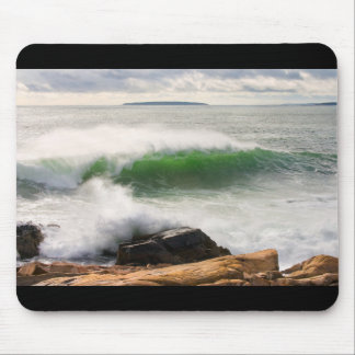 Large Crashing Waves Seascape Acadia National Park Mouse Pad