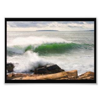 Large Crashing Waves Seascape Acadia National Park Photo Print