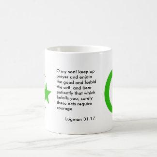Large crescent and star coffee mug