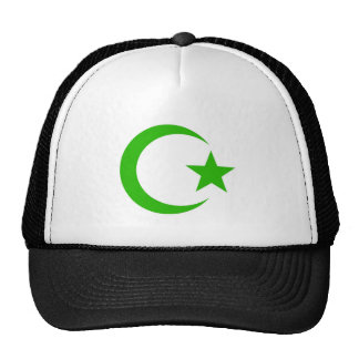 Large crescent and star trucker hat