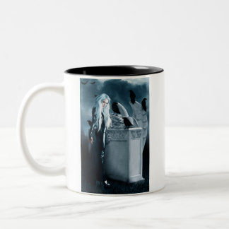 Large Crow Witch Mug
