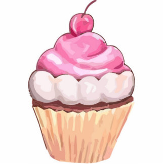 Large Cupcake Magnets - Sweet Gifts - Fridge Art Photo Cut Out